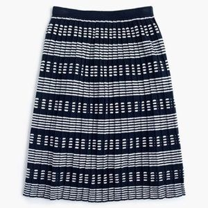 J Crew Navy Pleated Sweater Skirt